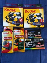 Lot of 6 Kodak FunSaver Single Use Camera with HD Power Flash - 27 exp - $39.55