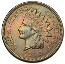 1907 Indian Head Penny / Cent Coin Lot# A 1468