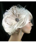 New Rock On  - Bridal Feather Fascinator, Bridal Headpiece, Wedding Veil - $75.00