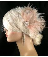 New Rock On  - Bridal Feather Fascinator, Bridal Headpiece, Wedding Veil... - $75.00