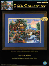 """Dimensions/Gold Collection Counted Cross Stitch Kit 14""""X11""""-Twilight Bridge (18  - $41.78"""