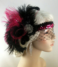 Art Deco Headband, Flapper Costume,1920s Head Piece, Flapper Headband - $95.00