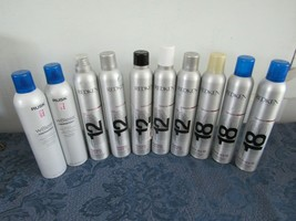 Mixed Lot 10 Cans  Redken Rusk Fashion Work 12 Quick Dry 18 Hairspray  - $118.80
