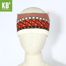 Orange Grey White N-Design Headband for Fall & Winter - $13.09