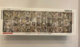 Eurographics Panroramic Sistine Chapel Ceiling Michelangelo Jigsaw Puzzle 1000pc - $13.99