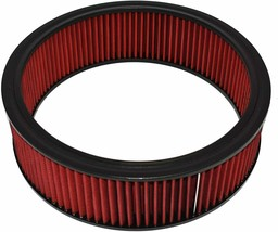 """HIGH FLOW WASHABLE & REUSABLE ROUND AIR FILTER ELEMENT REPLACEMENT 14"""" X 4"""" RED"""