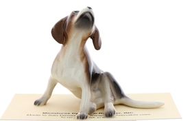Hagen-Renaker Miniature Ceramic Dog Figurine Beagle Pedigree with Beard image 3