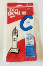 3 Disposable Dirt Devil Type C Vacuum Cleaner Bags for Upright Deluxe MVP Models - $2.09
