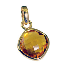 elegant Citrine CZ Gold Plated Yellow Pendant Fashion casually US - $5.63