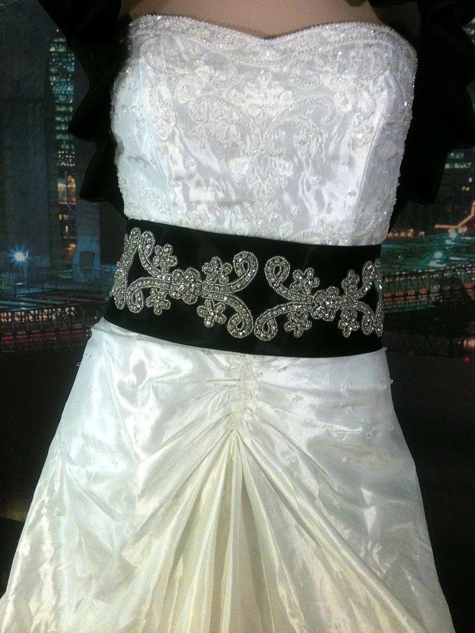 Black bridal crystal rhinestone sash 4 quot bridal sash bridal belt