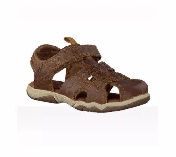 Primary image for TIMBERLAND TODDLER OAK BLUFFS LEATHER FISHERMAN SANDALS COLOR~RUST SIZE 9