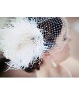 Bridal Feather Fascinator, Bridal Fascinator, Bridal Headpiece - $75.00