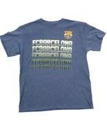 Fcb Barcelona Fútbol Camiseta L Manga Corta Hombre Futtball Azul Heather... - $18.72