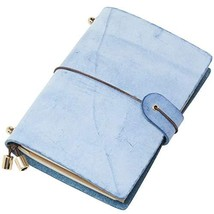 Molonbutterfly Leather Journal, Handmade Refillable Travelers Notebook as Daily