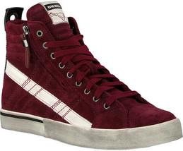Diesel Women D-Velows Mid Lace Y01846 Sneakers Burgundy Size UK 5 - $134.47
