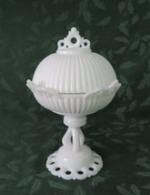 Westmoreland, Doric, Footed Covered Candy, Milk Glass, Line #3, DO-21, L... - $60.00