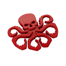 7x6.5cm Skull HEIL HYDRA Avengers SHIELD Emblem Badge Logo Motorcycle Ca... - $13.81
