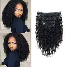 Glowingwin Kinky Curly Human Hair with Closure Grade 9A Virgin Unprocessed Brazi