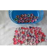 This Set of 100 Mix Assorted Round Flat Back He... - $17.00