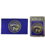 ALBATROS Set State of Nebraska 3 ft x 5 ft 3x5 Flag and 3ftx4ft Decal fo... - $36.12