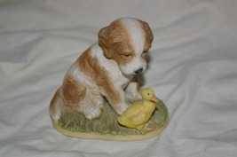 Homco Puppy and Duckling Figurine 1413  Home Interiors - $3.99