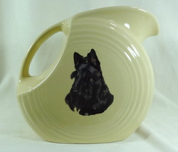 Fiesta Large Disc Pitcher Ivory With Black Scottie Dog Fiesta Ware New HLC - $32.71