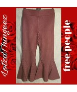 New free people Mari Ponte Pants 6625 Winterberry Striped Size 10 Stretch - $59.39