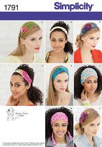 Simplicity Pattern 1791 Misses Hair Accessories Headbands 8 New Uncut Fa... - $6.99