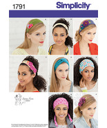 Simplicity Pattern 1791 Misses Hair Accessories Headbands 8 New Uncut Factory  - $4.99