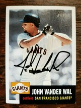 x1 2002 Topps #170 John Vander Wal New York Giants Autographed Baseball ... - $2.99