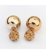 Fashion Women Earrings Double Pearls Stud - $2.99