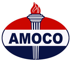 "Amoco Laser Cut Out Reproduction Motor Oil Metal Sign 18""x23.5"" - $39.60"