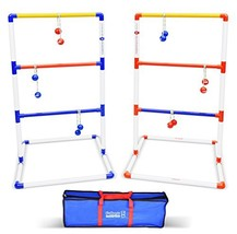 GoSports Premium Ladder Toss Outdoor Game Set with 6 Bolo Balls, Travel ... - $43.82