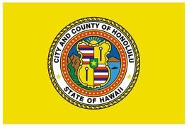 Honolulu Hawaii Vinyl City Flag Decal Sticker Made In Usa F573 - $1.45+