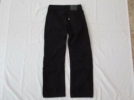Boys Levis 505 Straight Black Denim Jeans Size 10 Reg Short! Brushed Cotton Warm image 6