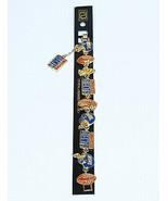 Peter David 3 HELMENTS ,3 BALLS ,3 FLAGS New York Giants  NFL Bracelet  - $7.13