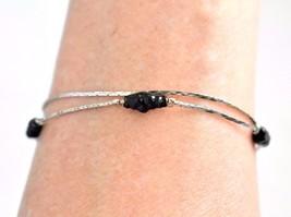 Vintage Delicate Multi Strand Beaded Bracelet Silver Tone Marked Korea 7... - $9.49