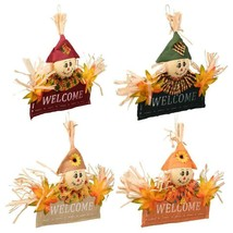 """Fall Harvest Scarecrow Welcome Signs Choose 1 from 4 Color Schemes 13"""" X... - $2.00+"""