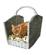 Penn Plax Wicker Pet Bed, Includes Plush Cushion, Handle for Portability... - £37.61 GBP