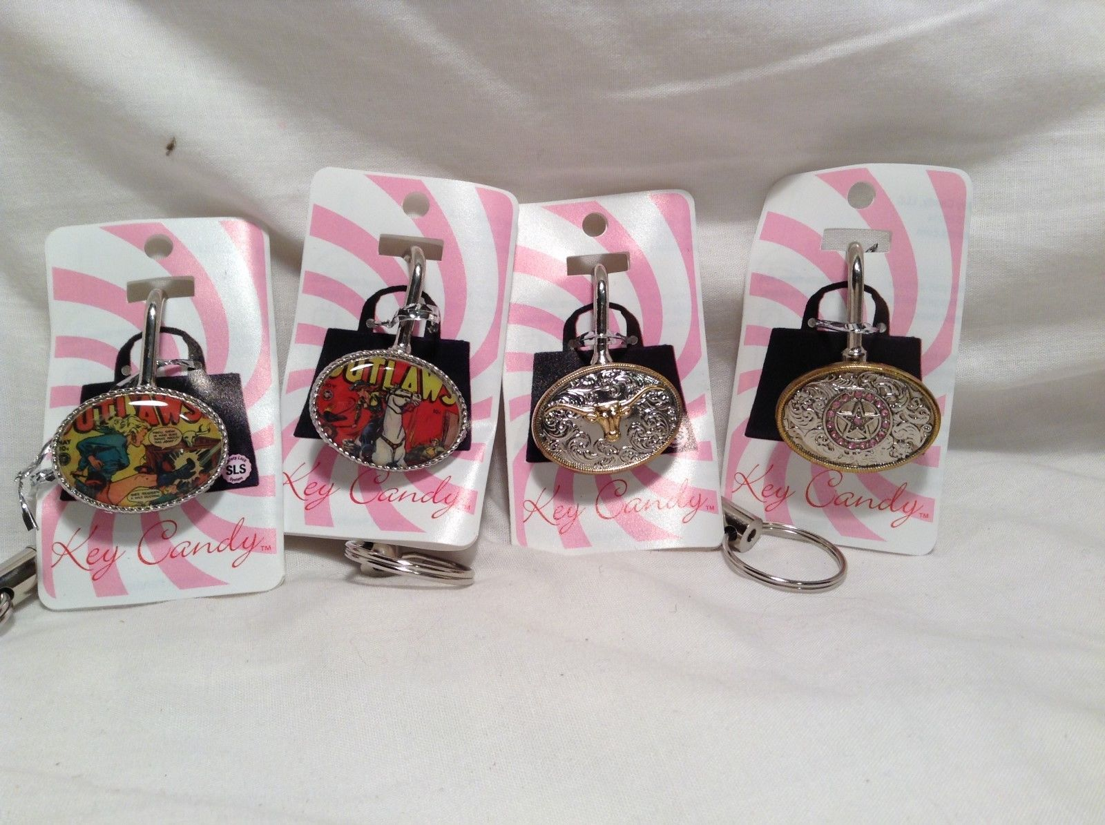 NEW Key Candy Western-themed Set of 4 Key Locks