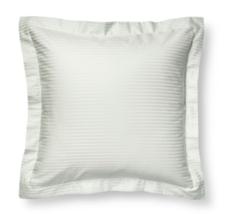 "Fieldcrest Damask Stripe Euro Pillow Sham Gray Mint Green 26"" x 26"" Squa... - $19.79"