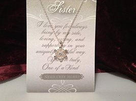 Sister Crystal Snowflake Necklace with Gift Card
