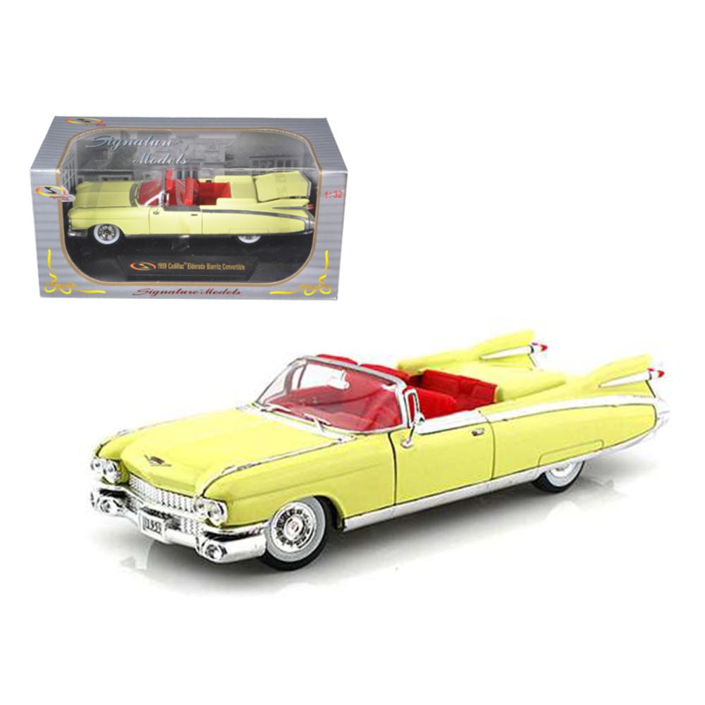 1959 Cadillac Eldorado Biarritz Yellow 1/32 Diecast Car Model by Signature Model