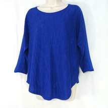 Moth Anthropologie Knit Top Shirt Pullover Women Size S Blue Sheer Sleeve - $39.09 CAD