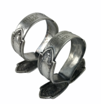 Vintage 1921 Pair Of Silverplated Napkin Ring Engraved Ruth & Sontinel W... - $23.20