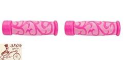 KIDZAMO FLOWER COMFORT SPORT PINK BICYCLE GRIPS - $9.89