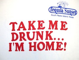 Tequila Sunset South Padre Island Texas Tourist beer T Shirt XL  - $9.89
