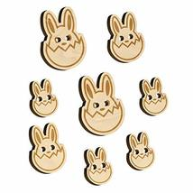 Easter Bunny Hatching Egg Shell Wood Buttons for Sewing Knitting Crochet... - $9.99