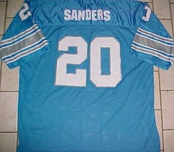 Barry Sanders #20 Detroit Lions NFL NFC Adult Unisex Honolulu Blue Jersey 54 - $49.49