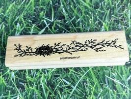 Stampin' Up! Rubber Stamp Birds Nest Branch 1997 Tree Border Design Wooden  - $10.39